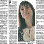 Entrevista a Mercedes Garcia Laso en Diario de Navarra 2017-04-05 por el libro Minimapas para Tormentas.