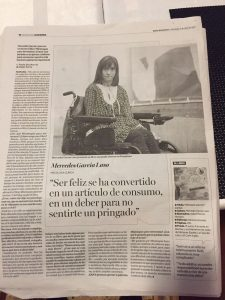 Entrevista a Mercedes Garcia Laso en Diario de Noticias Navarra 2017-04-02 por el libro Minimapas para Tormentas.
